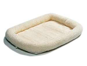 Midwest 40236 36-By-23-Inch Quiet Time Bolster Pet Bed, Fleece