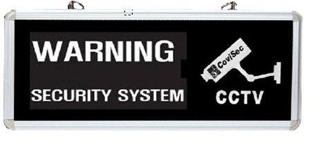"Covisec Alt-Sign Led Backlit Warning Sign For Cctv And Surveillance 14""X6"" **The Light Grabs Attention!!**"
