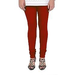 Vami Cotton Churidar Leggings in Maroon Color _VM1001(05)