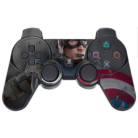 Comic Book Hero PS3 Dual Shock wireless controller Vinyl Decal Sticker Skin by Compass Litho (Ps3 Controller Skin America compare prices)