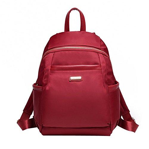 yaagle-sac-a-dos-loisir-simple-voyage-scolaire-pour-les-jeunes-en-nylon-rouge