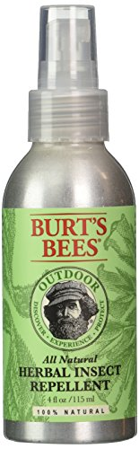 Burt's Bees Out Door Herbal Insect Repellent, 4-Ounce Bottles (Pack of 3)