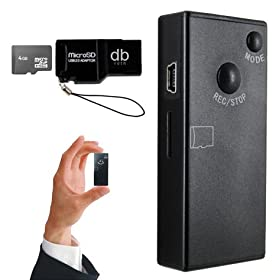 Micro Pocket Camcorder with 4gb Micro SD card (Expandable to 16GB) and DBROTH Card Reader - Records Video with Sound
