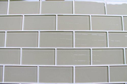 Beige subway tile backsplash