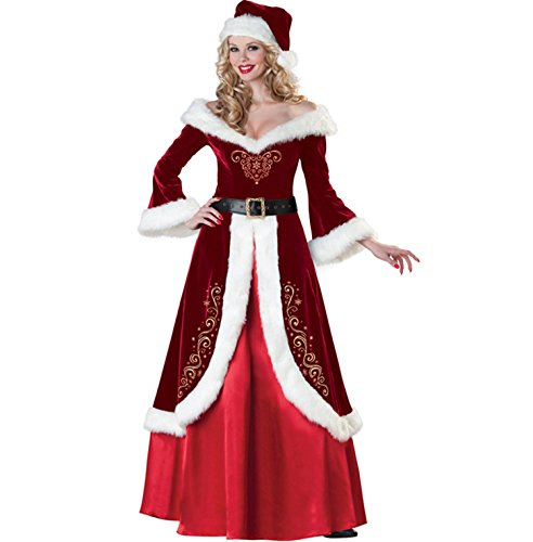 Sexy4Lady Women's Mrs. St. Nick Christmas Costume