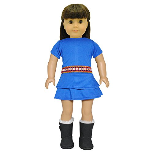 Doll Clothes - Blue Gypsy Dress Fits American Girl Doll, My Life Doll, Our Generation and other 18 inch Dolls