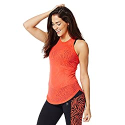 Zumba Fitness Women's Taut and Haute Tank Top, Rev Me Up Red, XX-Large