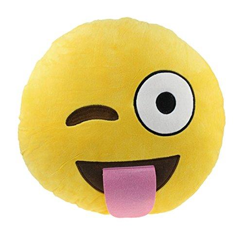 Ukamshop niedlich emoji smiley Kissen Weichen Cartoon gelb Kissen Spielzeug (ungezogen)