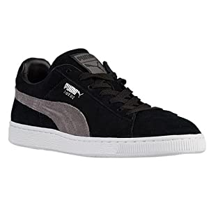Puma Suede Classic Plus (Black Steeple Gray-Puma Silver) Men's Skate Shoes-13