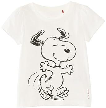 ESPRIT Mädchen T-Shirt 123EE7K014, Gr. 104/110, Elfenbein (103 OFFWHITE)