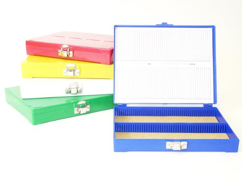 100 Capacity Slide Storage Box, Green. 97-0127