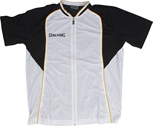 Spalding, Maglietta a maniche corte Uomo Teamsport Fastbreak, Bianco (Weiß), XXXXL