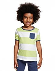 Pure Cotton Striped T-Shirt with StayNEW™