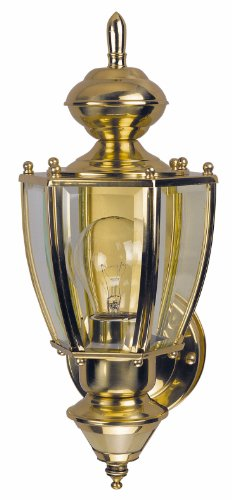 Heath/Zenith SL-4160-PB-B 150-Degree Motion-Activated Richmond Coach Style Decorative Lantern, Polished Brass