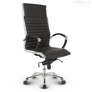 Versee Leder Design Drehstuhl Chefsessel Bürostuhl Montreal schwarz  Überprüfung und Beschreibung