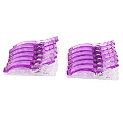 Imported Plastic Clips Clamps for DIY Patchwork Quilting Binding Sewing 12PCS Purple