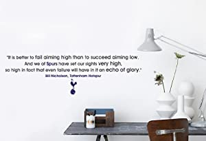 spurs fc bill nicholson glory quote wall sticker 1300mm x have your favourite spurs player football shirt football