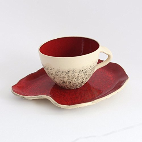 red-teacup-with-saucer-wheel-thrown-teacup-stoneware-cup-handmade-mug-cappuccino-cup-big-coffee-cup-