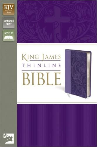 KJV, Thinline Bible, Imitation Leather, Purple, Lay Flat