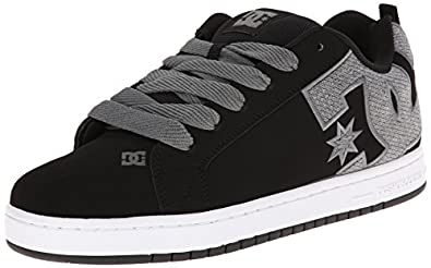 DC Men's Court Graffik SE Skate Shoe,Black/Gun Metal,6 M US