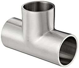 Dixon B7WWW-G100P Stainless Steel 304 Polished Fitting, Weld Short Tee, 1\