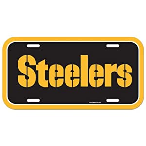 Pittsburgh Steelers Official Logo License Plate at SteelerMania