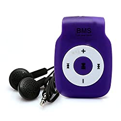 BMS Smart MP3 Music Player With 4GB Micro SD Card (Purple)