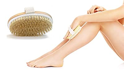 Dry Body Brush - Healthy Glowing Skin - Lymphatic Drainage - Reduce Cellulite - Exfoliates - Improves Skin Elasticity - Weight Loss - Natural Bristle