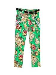 Bodingo Girls' Slim Pant (Bodingo1410G_Green_11-12 Years)