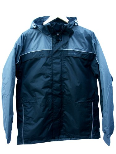 Mens Trespass TELCAST Waterproof Coat Jacket Flint UK Large 41 - 43 Chest