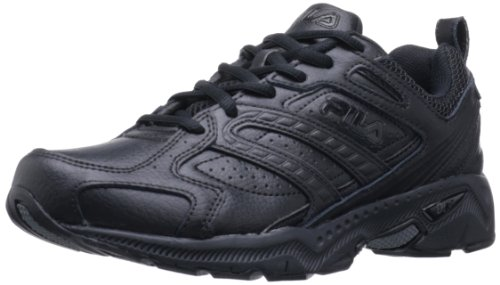 Fila Men's Capture Running Shoe,Triple Black,9.5 M US