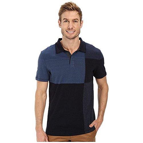 (カルバンクライン) Calvin Klein Jeans メンズ トップス 半袖シャツ Stripe Polo Color Blocked 並行輸入品