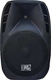 DS18 MB-PW15BT Made Backstage Series 15-Inch 2-Way 2000-Watt Max Powered Loud Speaker with Bluetooth, MP3, USB, SD and FM Radio