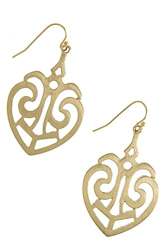 The Jewel Rack Simple Motif Cut Out Earrings (Matted Gold)