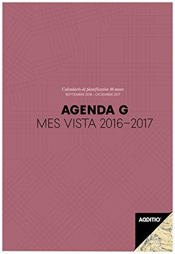Additio P182 - Agenda G 2016-2017 mes vista para el profesorado, color lila