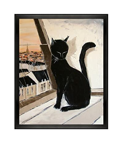 Atelier De Jiel Black Cat Is A Paris Master Framed Reproduction Print on Canvas