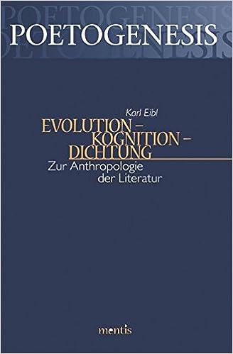 Neuerscheinung Karl Eibl (2016) Evolution - Kognition - Dichtung Cover