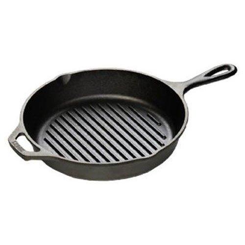 Lodge L8GP3 Cast Iron Grill Pan, 10.25-inch