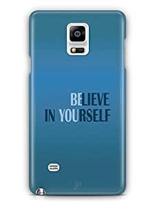 YuBingo Believe in Yourself Mobile Case Back Cover for Samsung Galaxy Note 4
