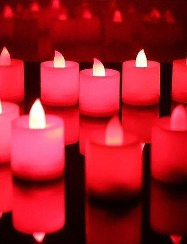 CinCin matrimonio decorazioni led rosso candele - set di 6