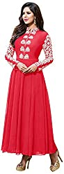 Ecoco Fashion Women's Unstitched Salwar Suit (Red)