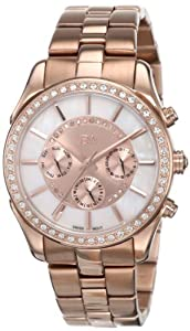 JBW Women's J6279B 22 Diamonds Oversized Metal Band Watch