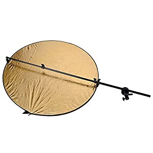 Nulink153; Photography Studio Photo Extendable Reflector Holder Arm Support with Swivel & Grip Head Clamp Holder for Light Reflector [Black]