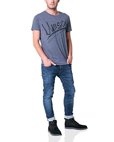 BIG STAR Camiseta Manga Corta Gora_Ts_Ss Azul Jaspeado