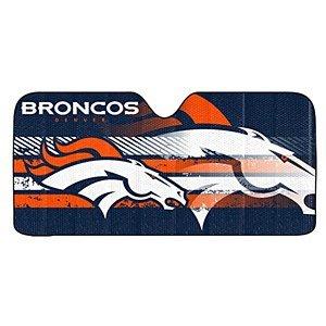 NFL Denver Broncos Universal Auto Shade, Large, Blue (Nfl Sun Shade Denver compare prices)