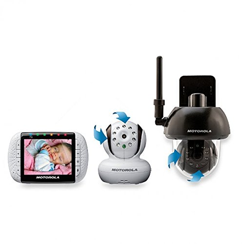 "Motorola Mbp36 Baby Monitor With 3.5"" Color Lcd Screen & Free Outdoor Accessory Camera"
