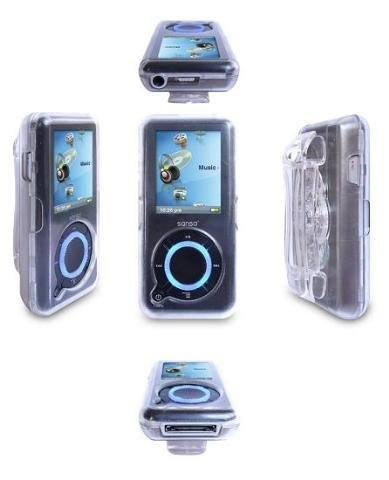 Crystal Snap-On Case with Swivel Belt Clip for Sandisk Sansa E-200 Series Mp3 Player