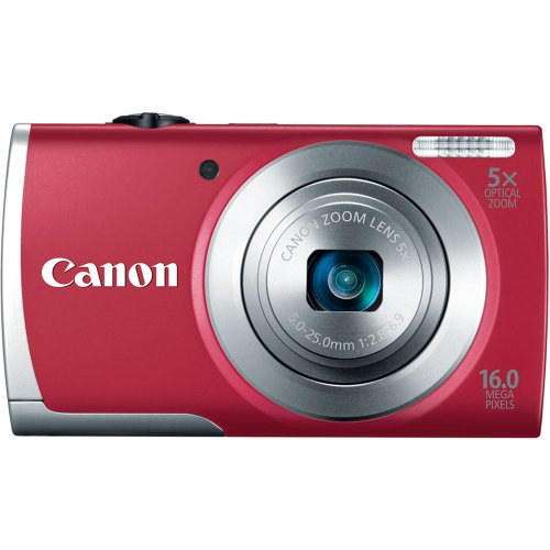 41tGYfrTrUL Canon PowerShot A2500 16MP Digital Camera with 2.7 Inch LCD (Red)