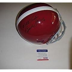 Bart Starr roll Tide Alabama Signed Full Size Helmet Q60644 Packers - PSA DNA...