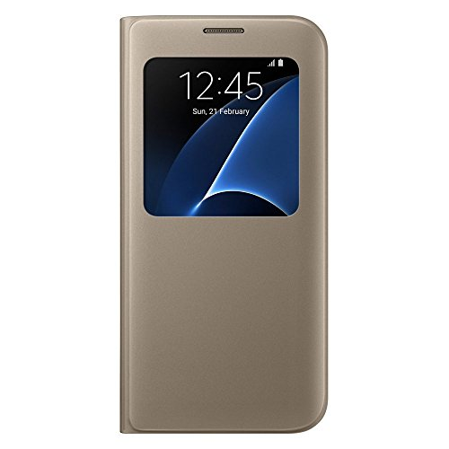 Galaxy S7 edge用 S Viewカバー ゴールド 【Galaxy純正 国内正規品】 EF-CG935PFEGJP